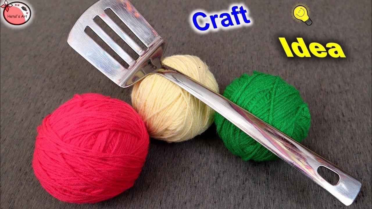Innovative Traditional Woolen Craft Idea || DIY Woolen Wall Decor Craft