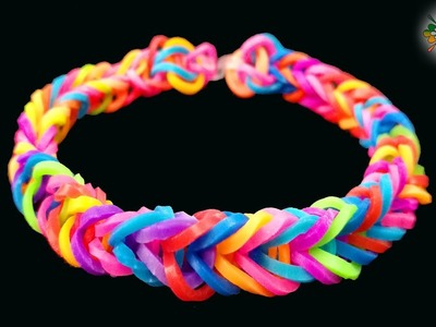 Kids DIY - How to make Rainbow Loom Bracelet with your fingers - EASY TUTORIAL