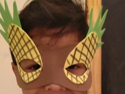 Kids Pineapple Face Mask| Easy Fun Craft