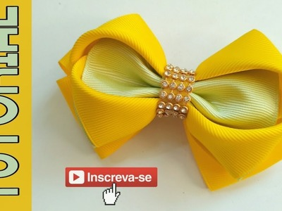 Laço Heart 38mm ???? Ribbob Bow Tutorial ???? DIY by Elysia Handmade