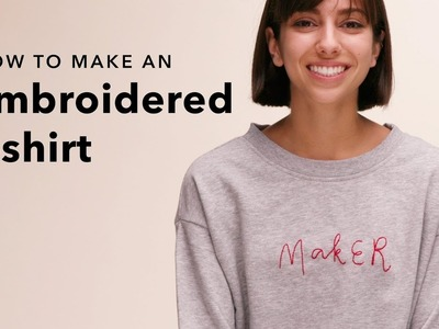 Make a DIY Embroidered Shirt in an Hour or Less!