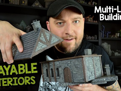 ????️Multi-Level Buildings with Playable Interiors for D&D (Black Magic Craft Episode 106)