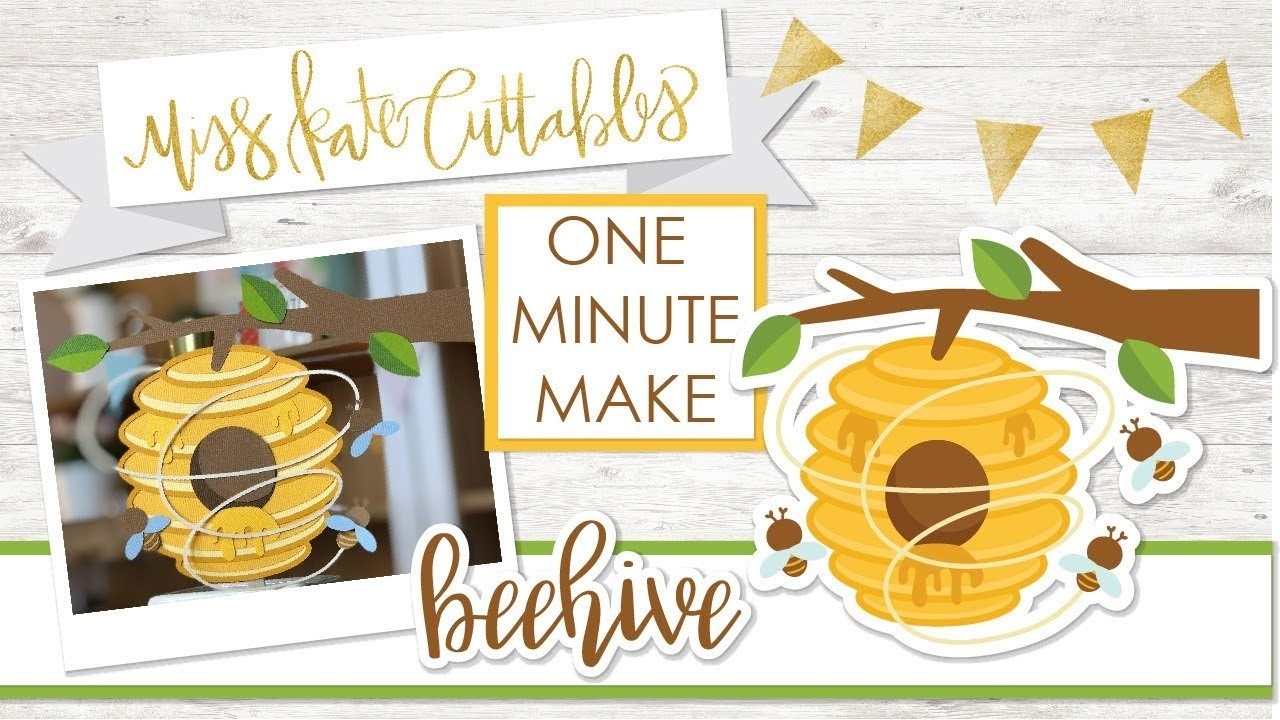One Minute Make - Beehive - Layered SVG How To DIY Tutorial Cricut Explore Maker Silhouette Cameo