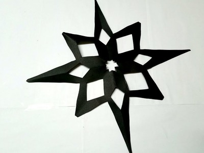 Origami Snowflake For Christmas Decoration Paper Craft | Easy Paper snowflake Making Tutorial