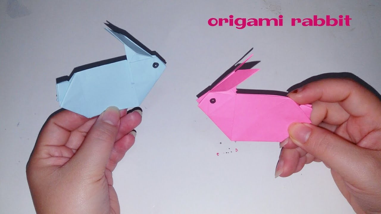 paper craft how to make a paper rabbit origami rabbit