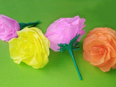 Paper flowers easy  | paper craft wall hanging |  crepe paper flower