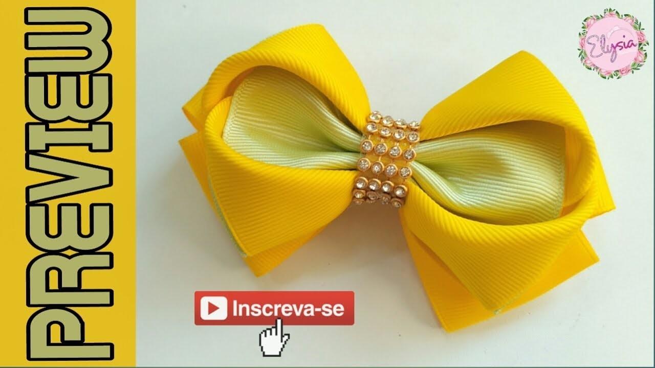 [PREVIEW] Laço Heart 38 mm ???? Ribbob Bow Tutorial ???? DIY by Elysia Handmade