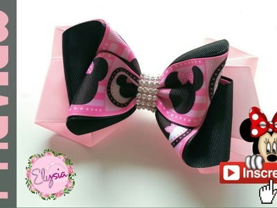 [PREVIEW] Laço Minnie Mouse ???? Black Pink Ribbon Bow Tutorial ???? DIY by Elysia Handmade