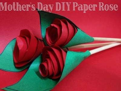 REALISTIC Red Origami Roses| Mothers Day Craft for Teens