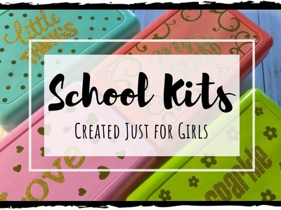 Sparkly School Survival Kits for Girls | DIY Dollar Tree Gifts
