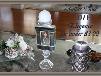 Stunning Glam Mirror Candle Holder Dollar Tree DIY