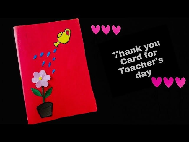 thank you card for teachers day easy diy tutorial kids
