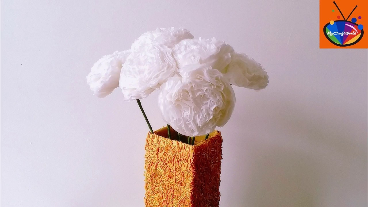 Tissue Paper Flowers Tutorial Easy Diy Tissue Paper Flowers In 5