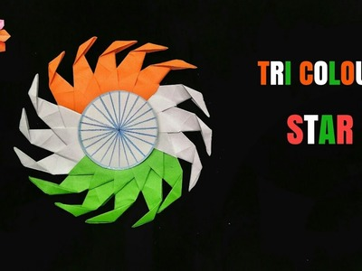 Tri Colour Star - Independence Day | Republic Day - DIY Origami Tutorial - 82