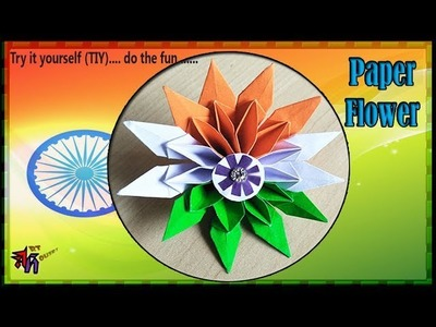 Tricolor Paper flower for Independence day   Tricolor DIY by Art House