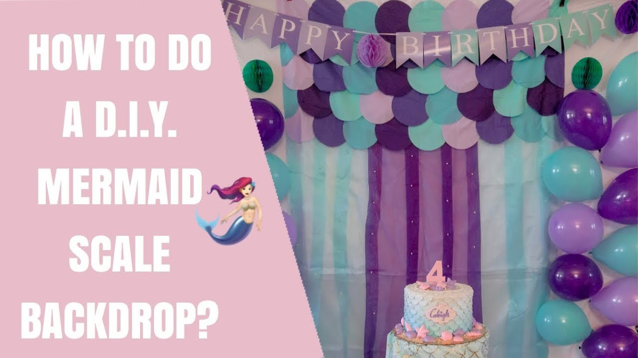 TUTORIAL #3 : HOW TO DO A DIY MERMAID SCALE BACKDROP? | pinkprincess