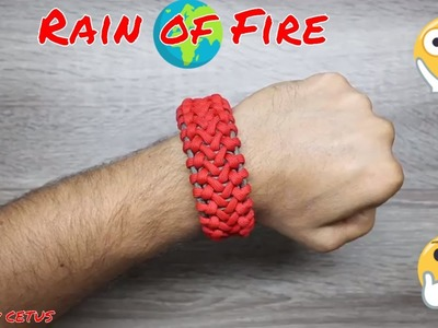 Unique How To Make Paracord Bracelet Rain of Fire DIY Paracord Tutorial Easy