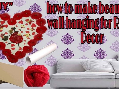 Wall hanging| wall hanging craft ideas |home decoration|heart wall hanging|cardboard craft|DIY