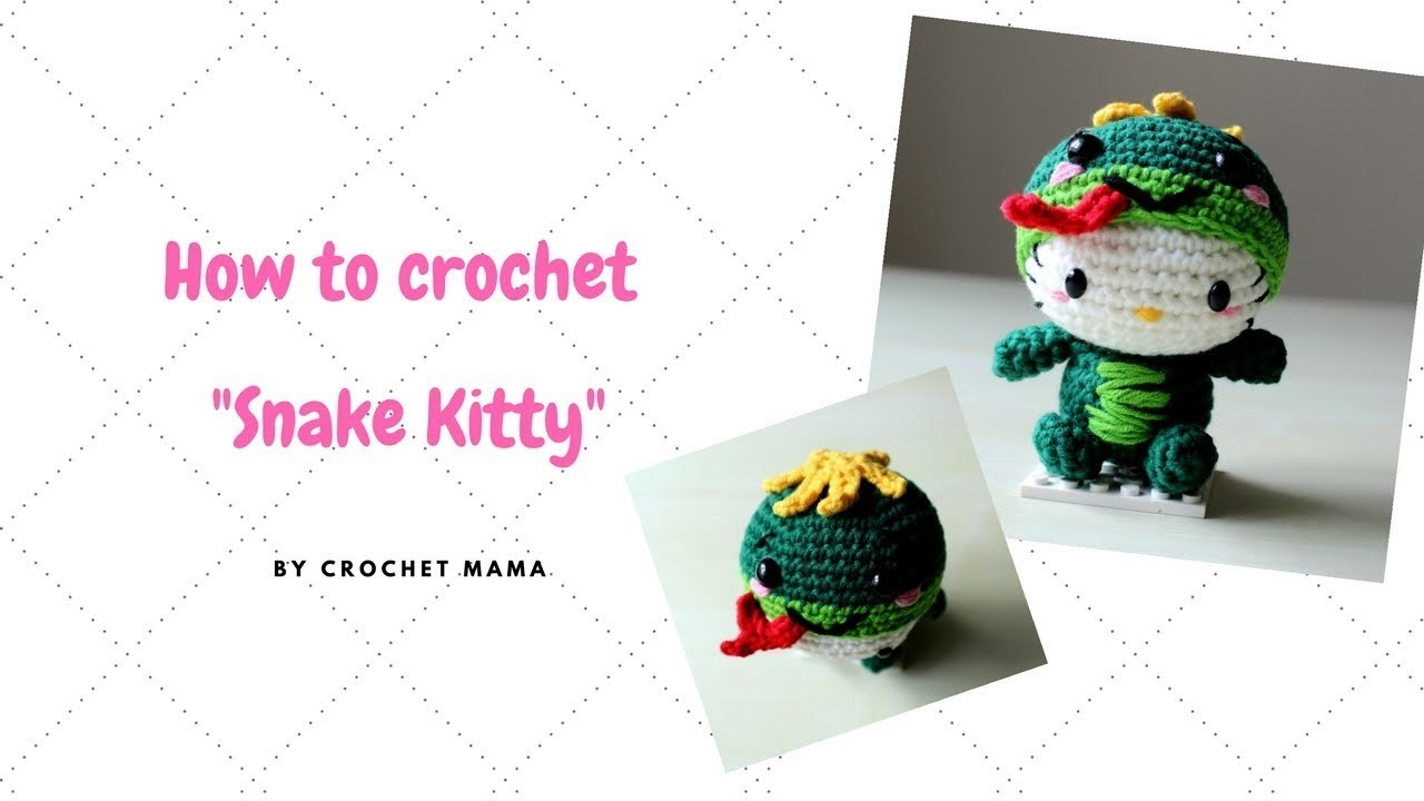 Crochet amigurumi Hello Kitty Chinese Zodiac Snake Pattern and Tutorial