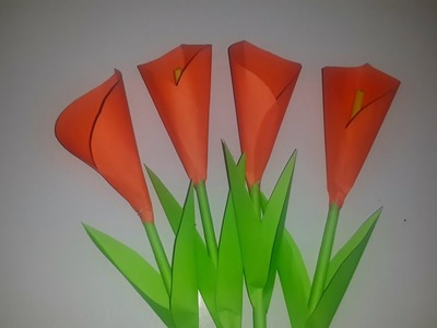 How To Make Calla Lily Paper Flower Origami