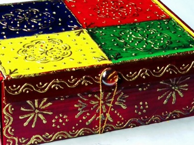 DIY Storage Box from Waste Cardboard Box    How to Make Bangle & Jewellery Organizer    DIY Craft   