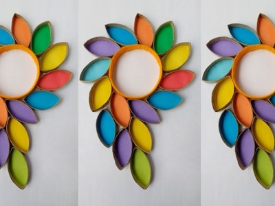 DIY: Wall Hanging!!! How to Make Beautiful Wall Hanging With Toilet Paper Roll & Plastic Bottle!!!