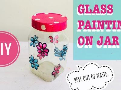 Glass Painting on Jars or Mason Jars DIY   How To Design A Mason Jar with Glass Painting Part 2