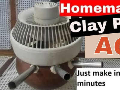 Homemade clay pot AC || how to make AC at home || homemade AC without ice