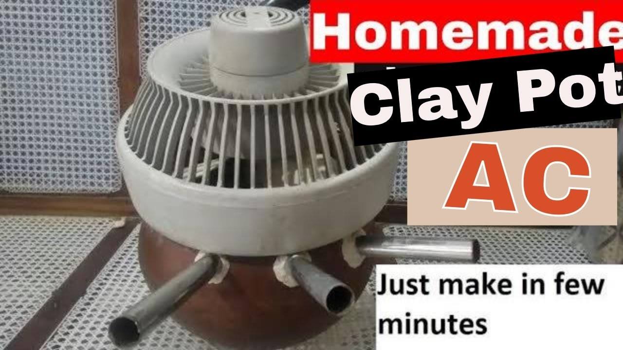 Homemade clay pot AC    how to make AC at home    homemade AC without ice