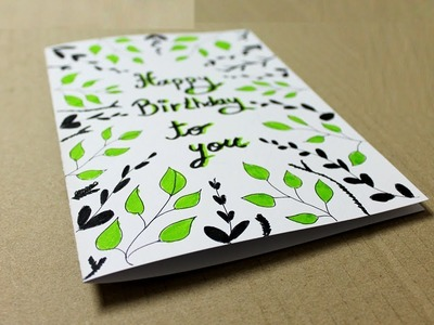 How to make a Greeting Card for Birthday at home - Handmade Cards