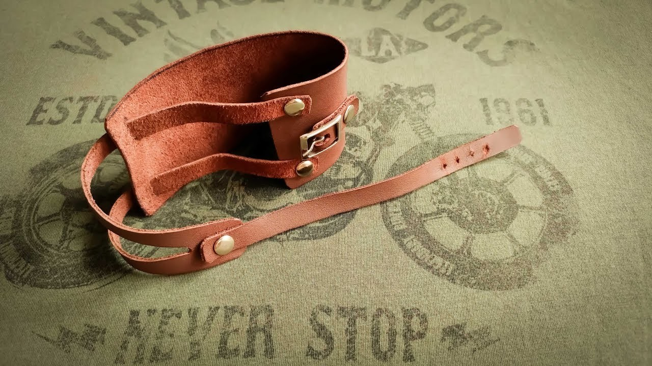 How to make a Leather BRACELET - Cool handmade Leather BRACELET