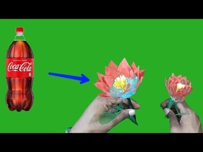 How To Make A Lotus From Plastic Bottle | Best Out Of Waste | DIY Arts And Crafts | Infoo crafts