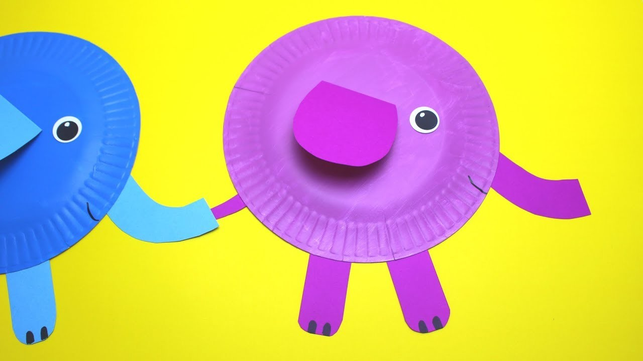 How to Make a Paper Plate Elephant | Paper Plate Crafts