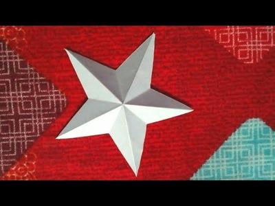 How to make a paper star 3D -কিভাবে একটি কাগজের স্টার তৈরি করবেন