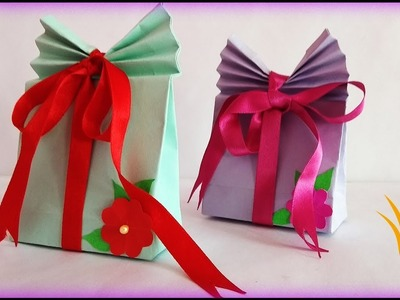 How to Make beautiful paper GIFT BAG || very easy || DIY paper  crafts ideas