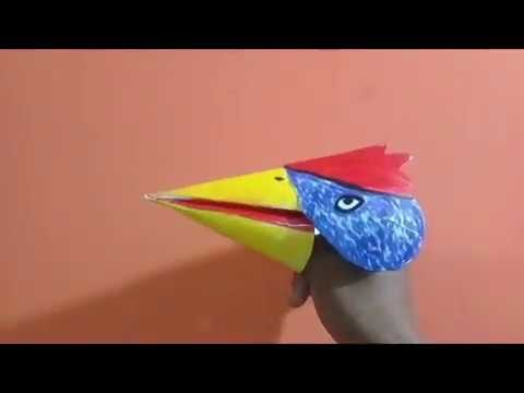 How to make bird puppet