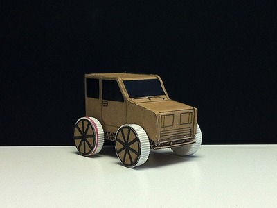 How to make car using rubber bands ????