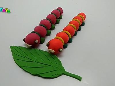 How To Make  Caterpillar - Play Doh  I Widy Toys