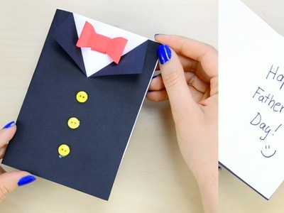How to Make Father's Day Tuxedo Card - paper crafts for kids