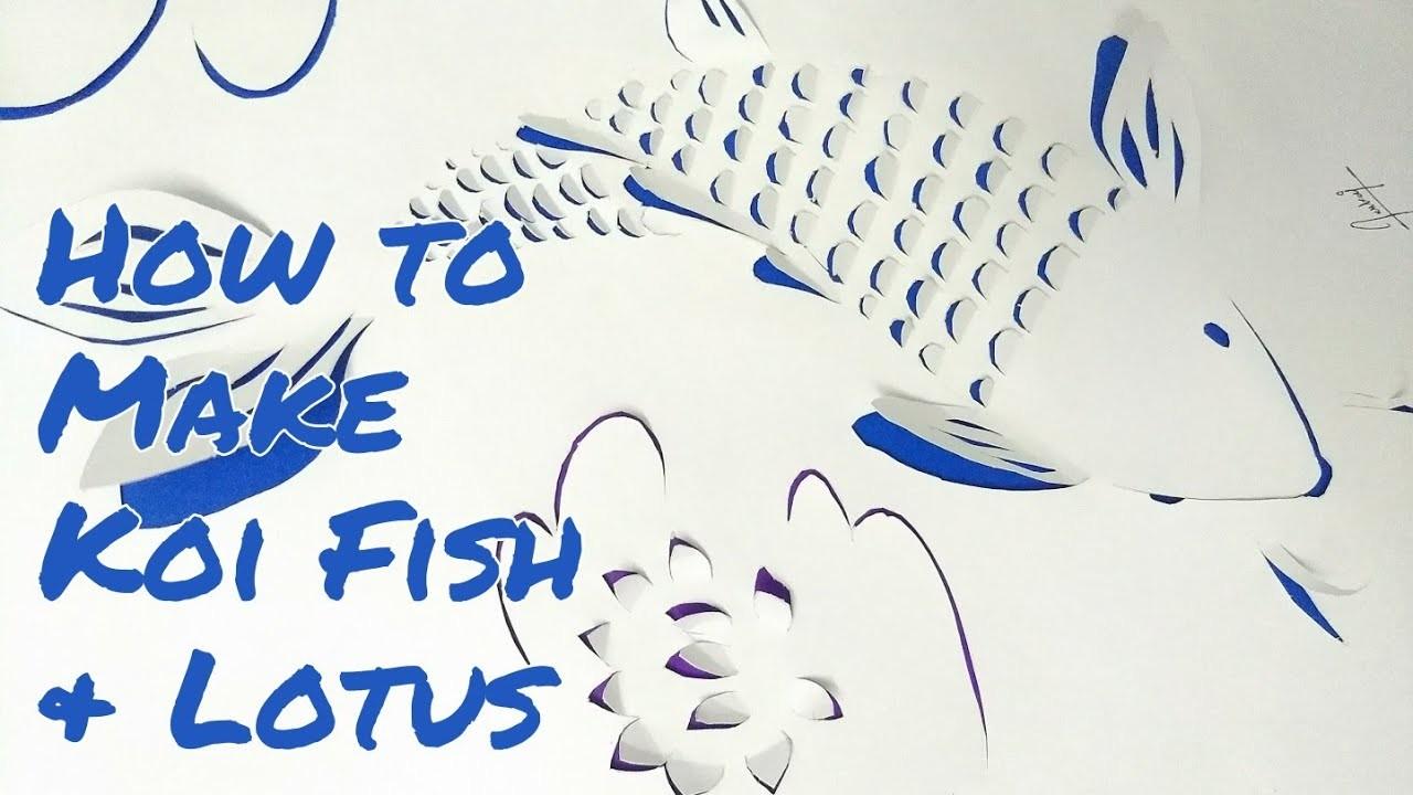How to make fish and lotus flower paper art koi fish creative 3d how to make fish and lotus flower paper art koi fish creative 3d art idyllic galleria izmirmasajfo