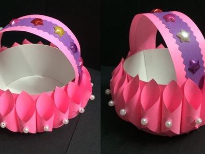 How to Make Paper Basket | Making Paper Baskets Step by Step | DIY-Paper Crafts