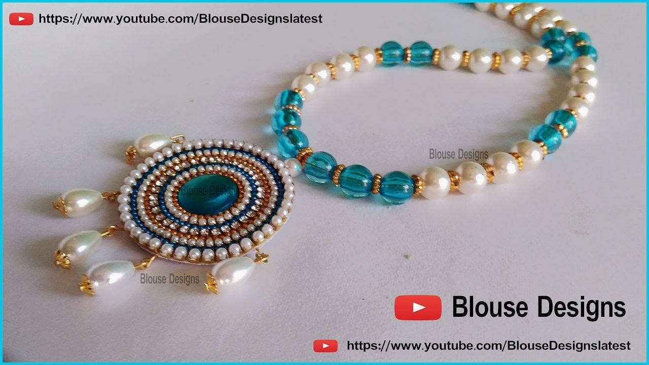 How to make pearl necklace, pearl pendant necklace, wedding necklace, pearl jewellery