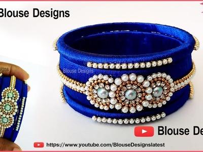How to make silk thread bangles, thread bangles latest designs,  silk thread jewellery
