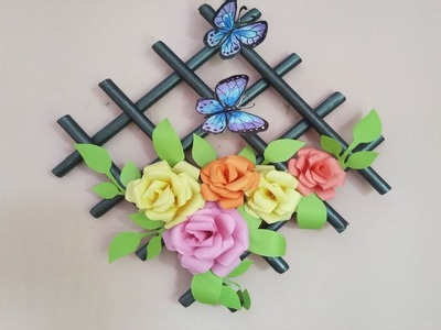 How to make wall decoration with paper.Home decor ideas.