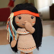 PATTERN - Venona - Native American Girl