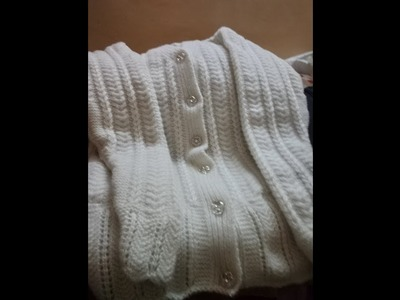 Special Single Colour Ladies Cardigan Design|Knitting Lessons #24