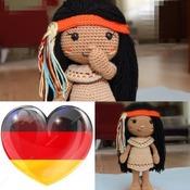 Häkelmuster Venona - Indianisches Mädchen - American Native Girl