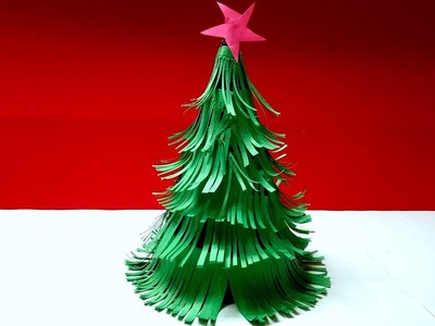 3D Origami Paper Christmas Tree Making For Christmas Tutorial | DIY 3D Art And Craft Ideas