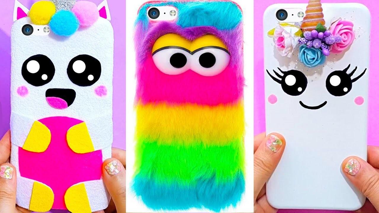 the best attitude 4e49b e1ed2 5 DIY UNICORN PHONE CASES, Easy & Cute Phone Projects & iPhone Hacks ...