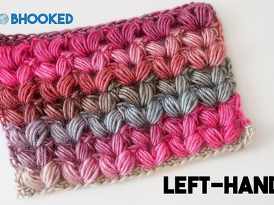 Crochet V Puff Stitch Tutorial - Left Hand